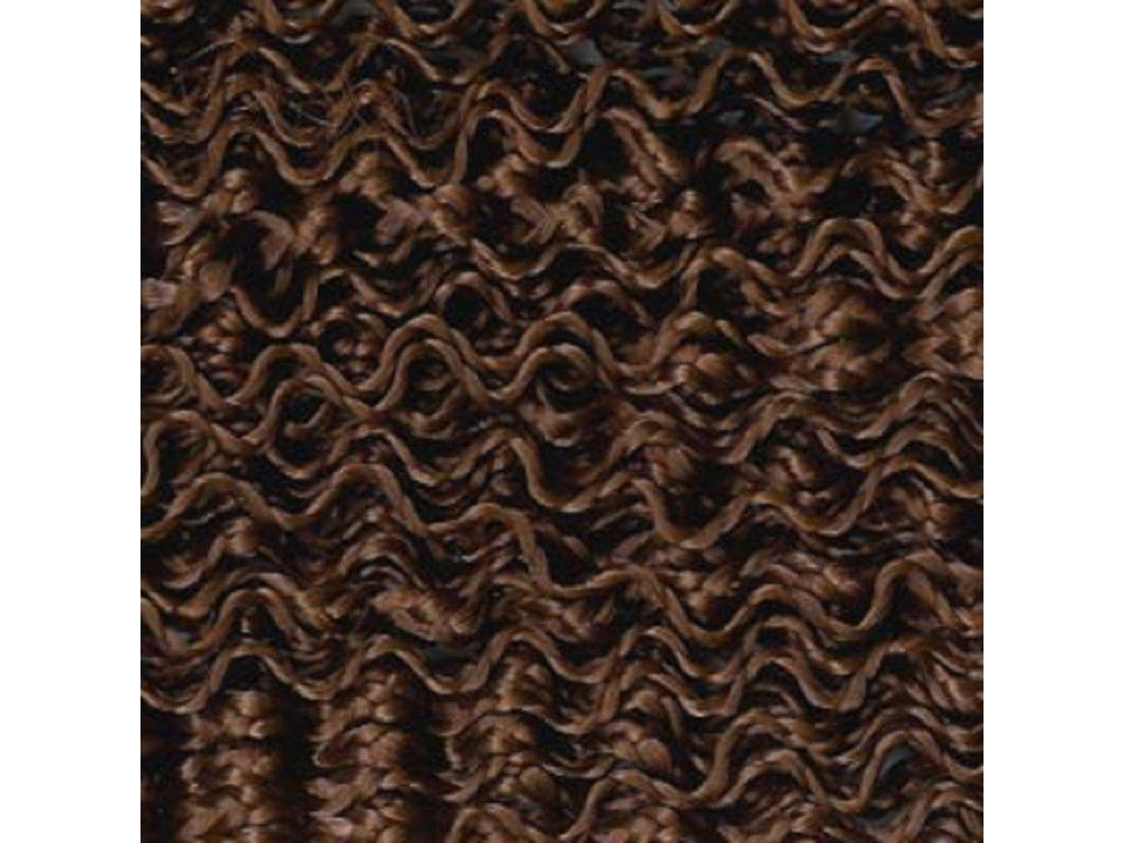 Vlnitý Micro Zizi Kanekalon  MZ6 Stredne hnedá