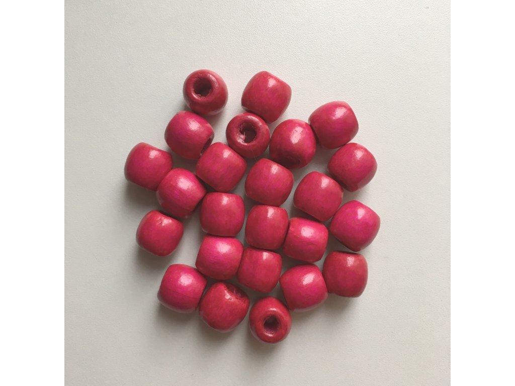 Korálky na vrkôčiky a dready drevené ružové veľké 24ks