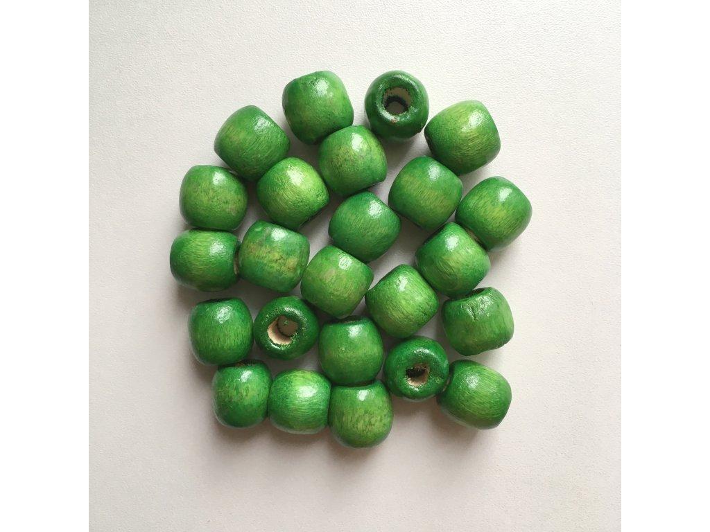 Korálky na vrkôčiky a dready drevené zelené veľké 24ks