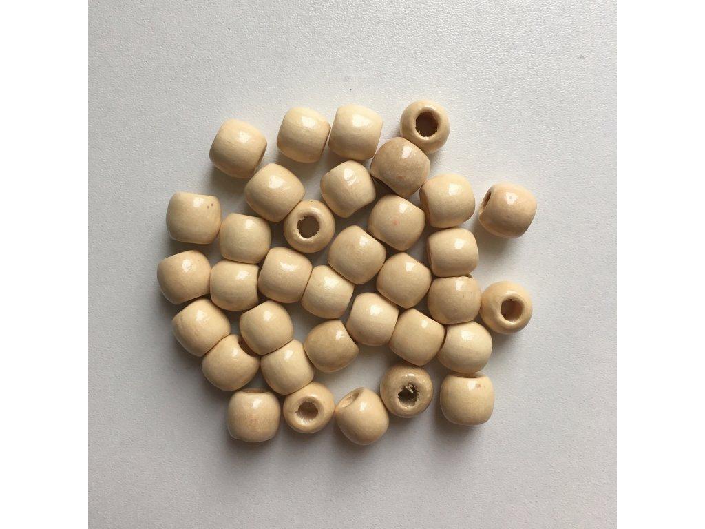 Korálky na vrkôčiky a dready drevené svetlé malé 35ks