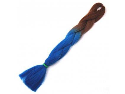 Ombre Jumbo Braid Kanekalon OM87- Hnědá-modrá