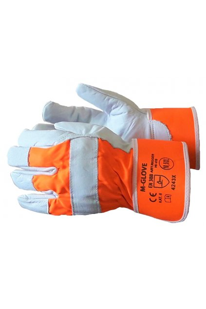 m glove rigger orange hi vis 4243x