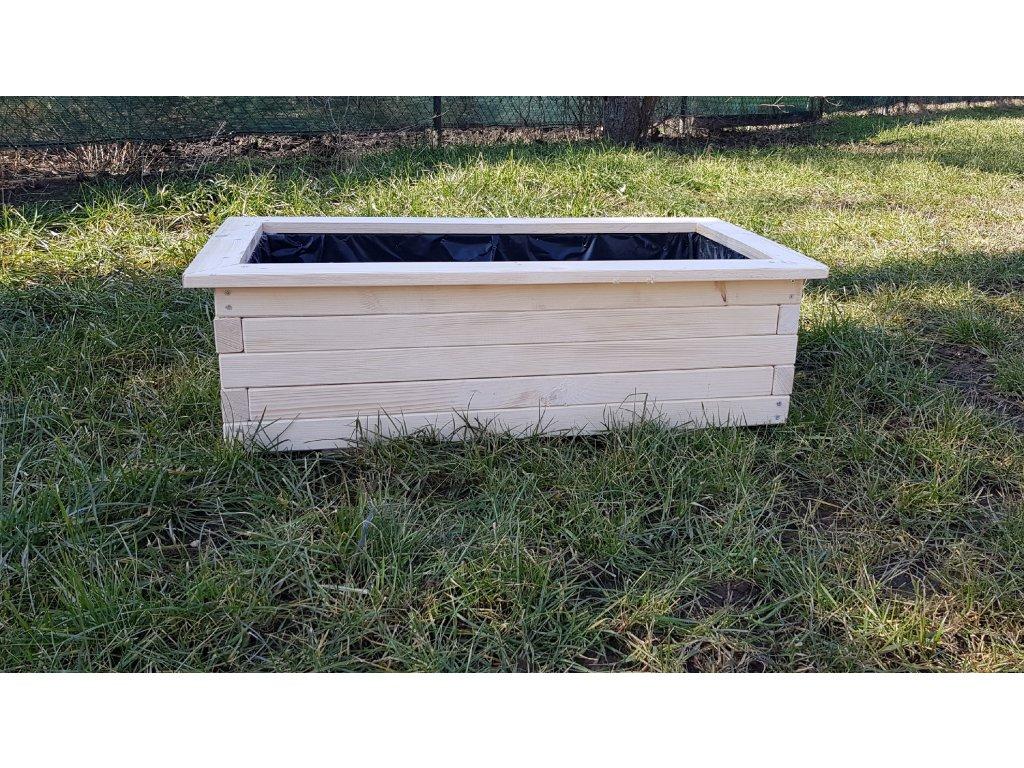 Dřevěný truhlík 105x35x55 cm