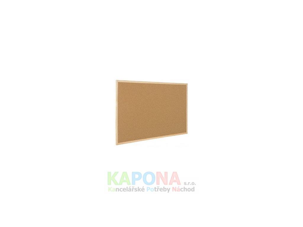 Tabule korková nástěnná, dřevěný rám (Popis oboustranná, Velikost 1200x900mm)
