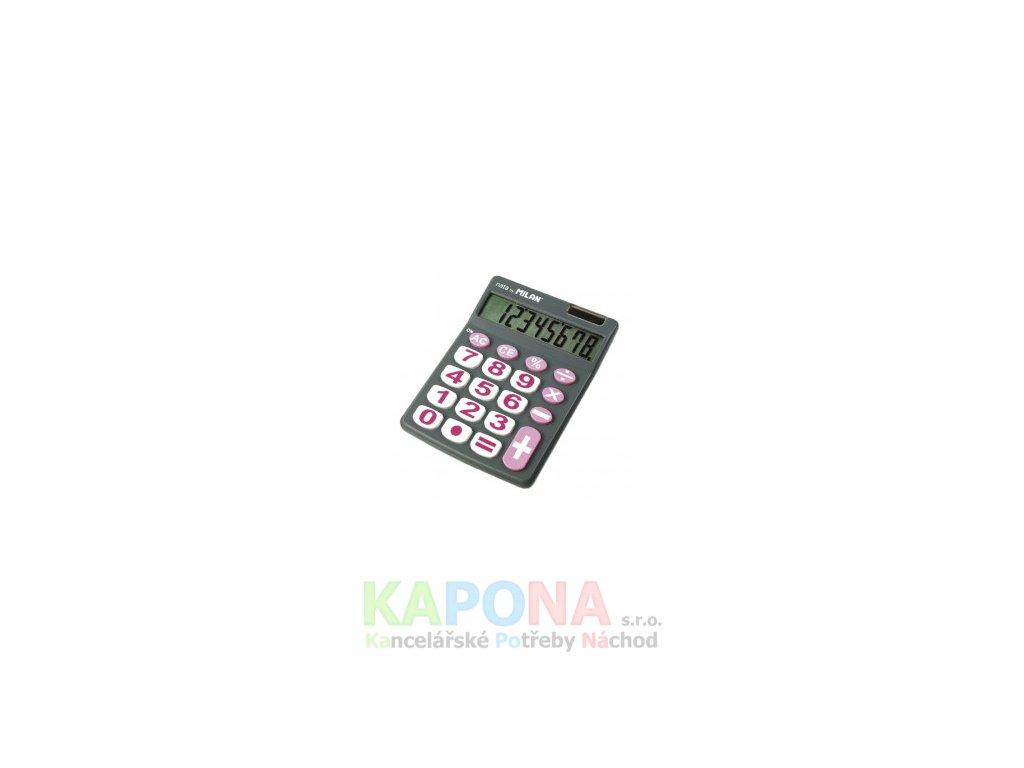 Kalkulačka Milan 151708 šedá s růžovou