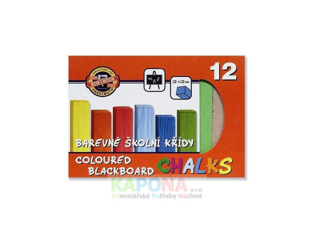 1751 kridy skolni barevne 12ks