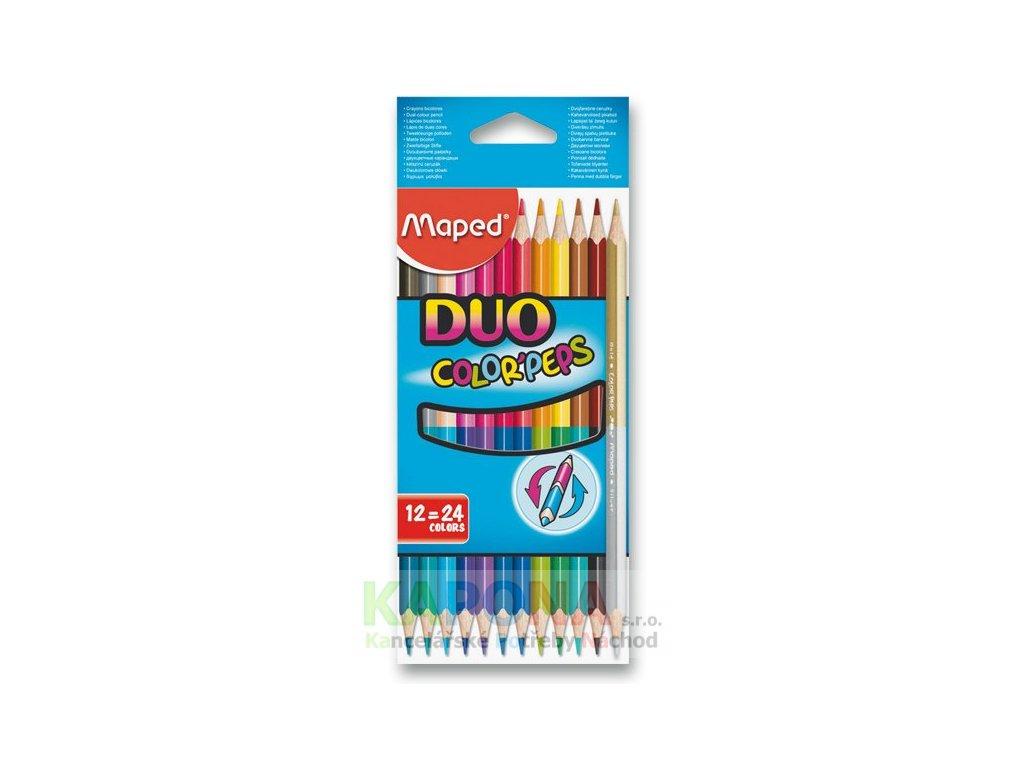 Pastelky trojhranné Maped Duo Color'Peps, různý počet barev (Popis 24 pastelek = 48 barev)