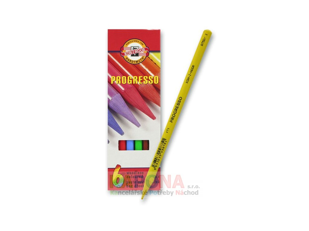 Pastelky Progresso, různý počet barev (Popis 8758/24 barev)
