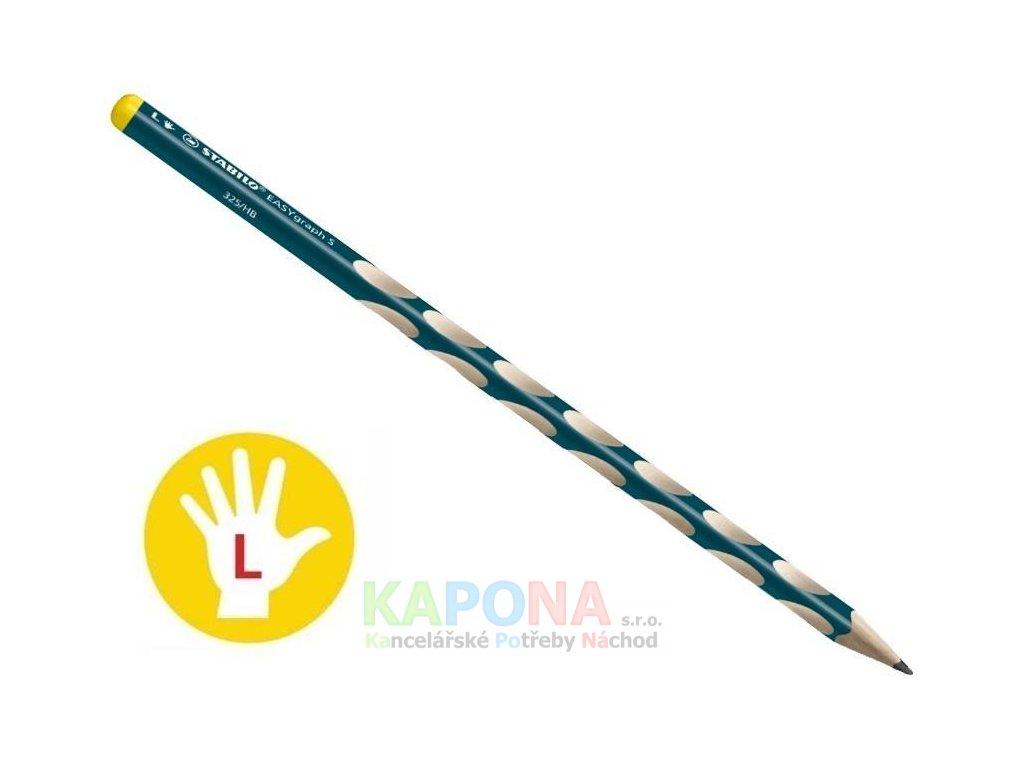 Tužka trojhranná silná Stabilo s výřezy pro leváky (Popis Modrá)