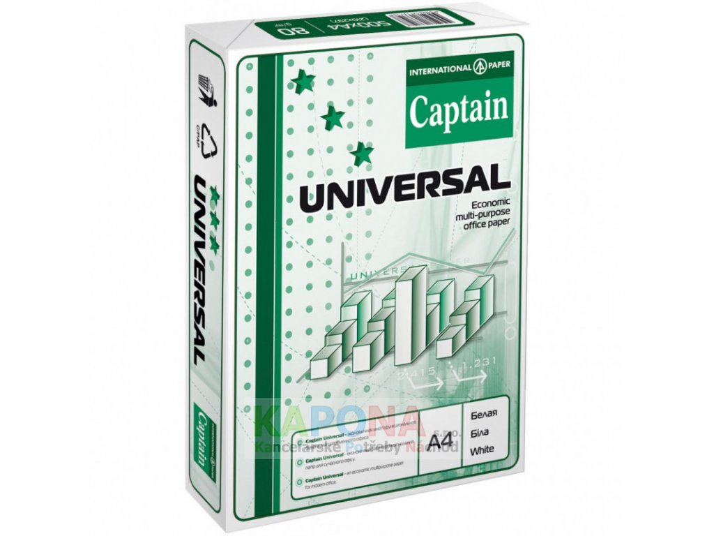 Captain Universal A4 80gsm Ream