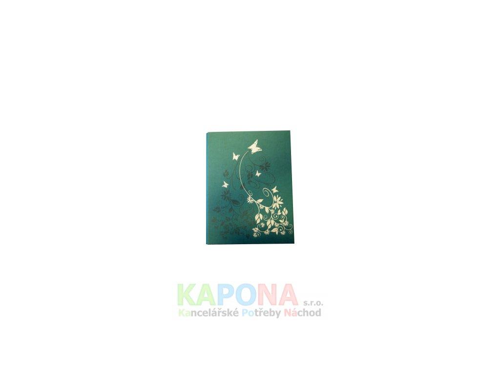 Blok karis A4, květy