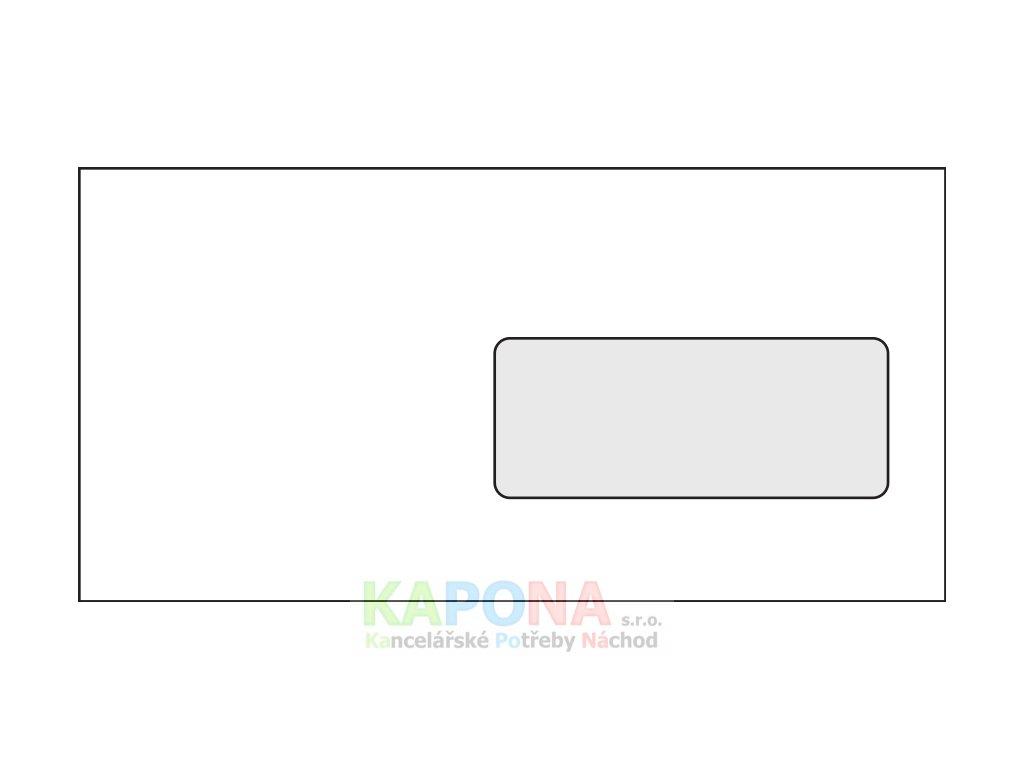 Obálka DL samolepicí s okénkem a krycí páskou 1000ks