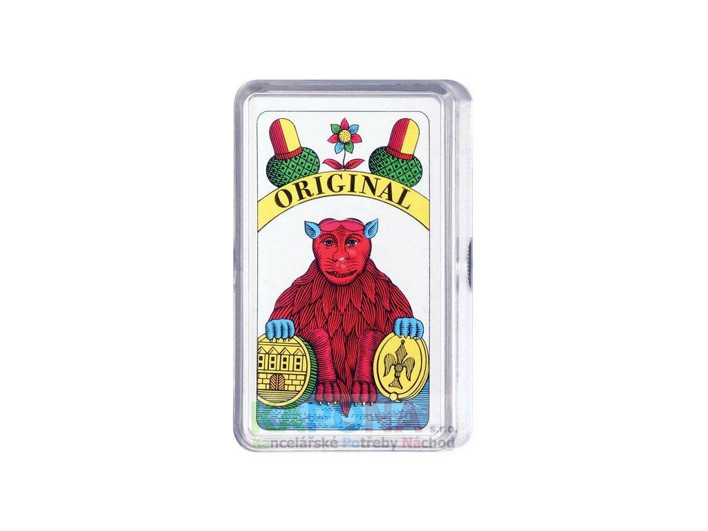 Karty Mariáš jednohlavé v plastové krabičce