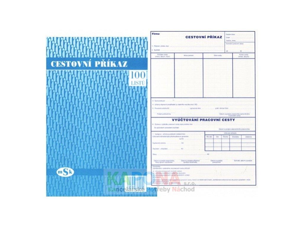 Cestovní příkaz A4 100 listů, MSK 501