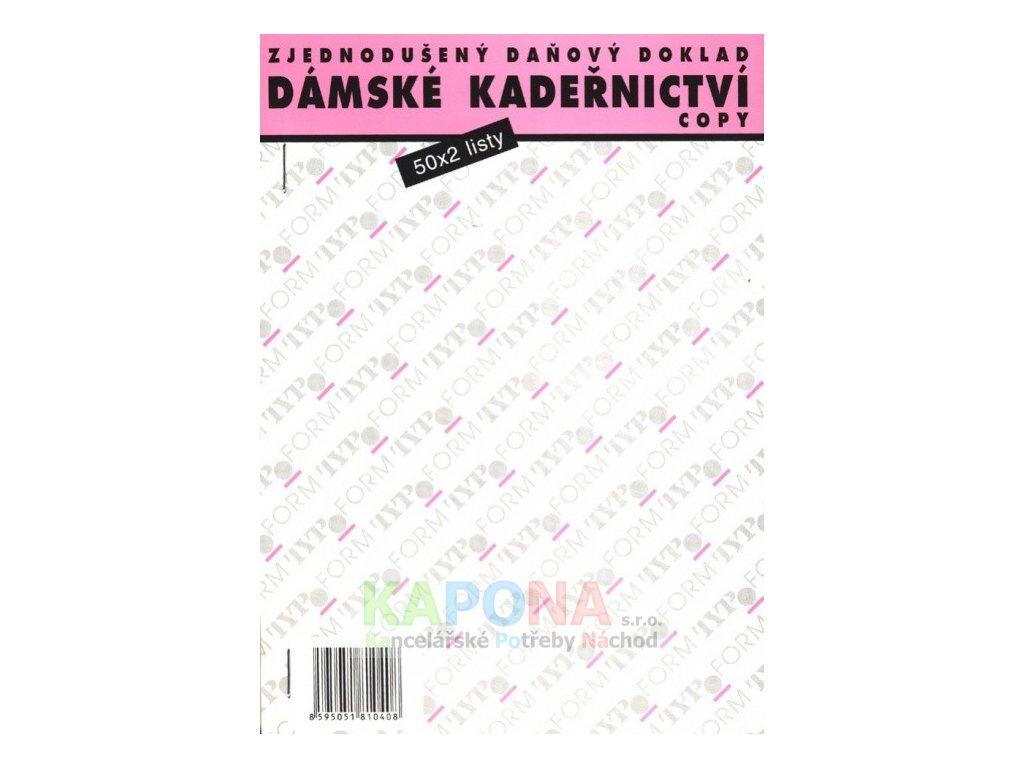 Kadeřnický blok dámský číslovaný samopropisovací, MSK 375