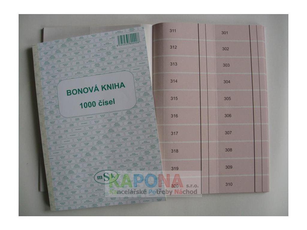Kniha bonová 1000 čísel, MSK 90