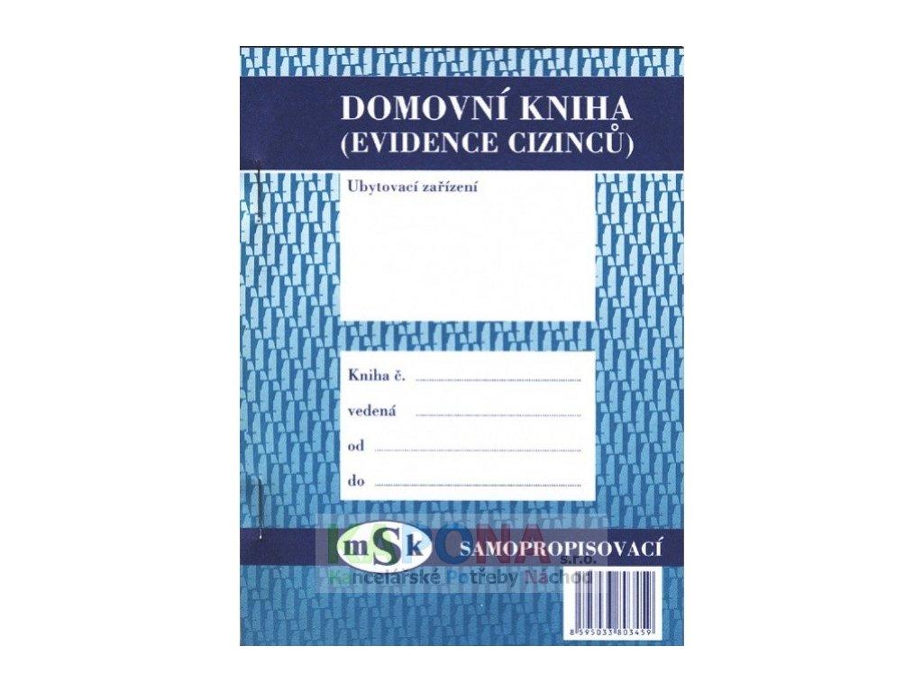 Kniha domovní pro cizince A6 1000 listů, MSK 345