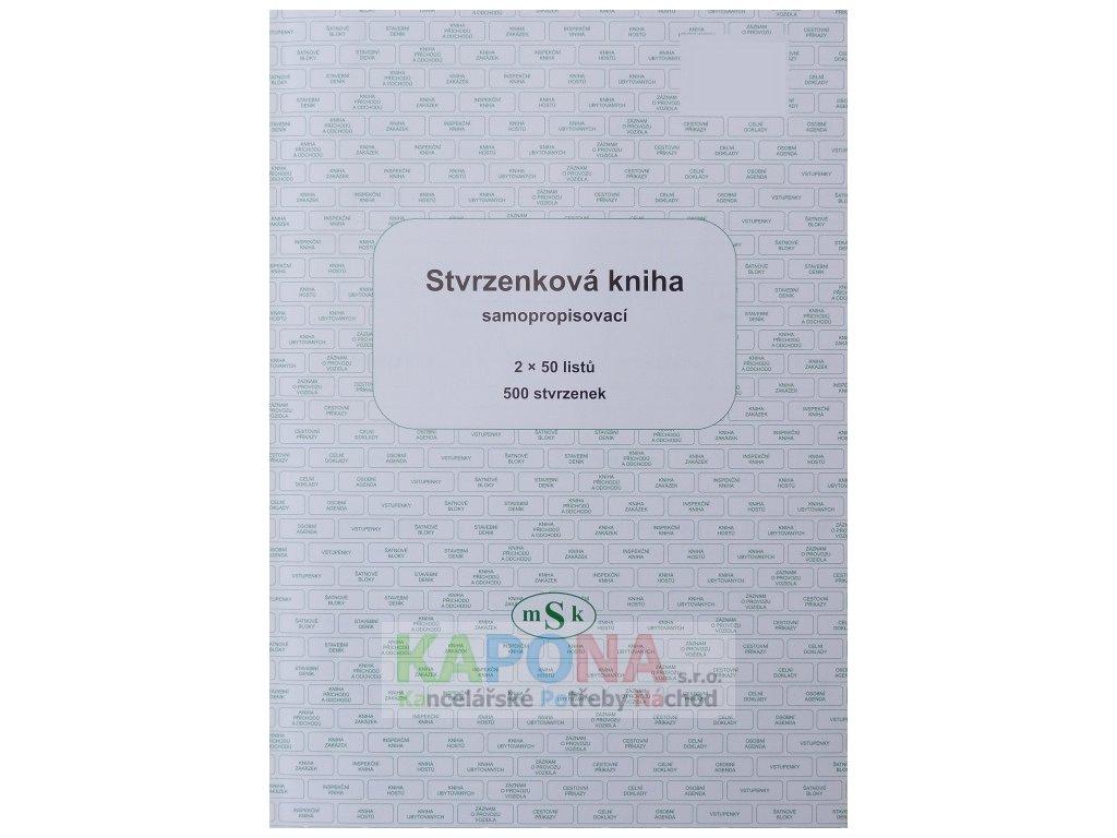 Kniha stvrzenková samopropisovací, MSK 89