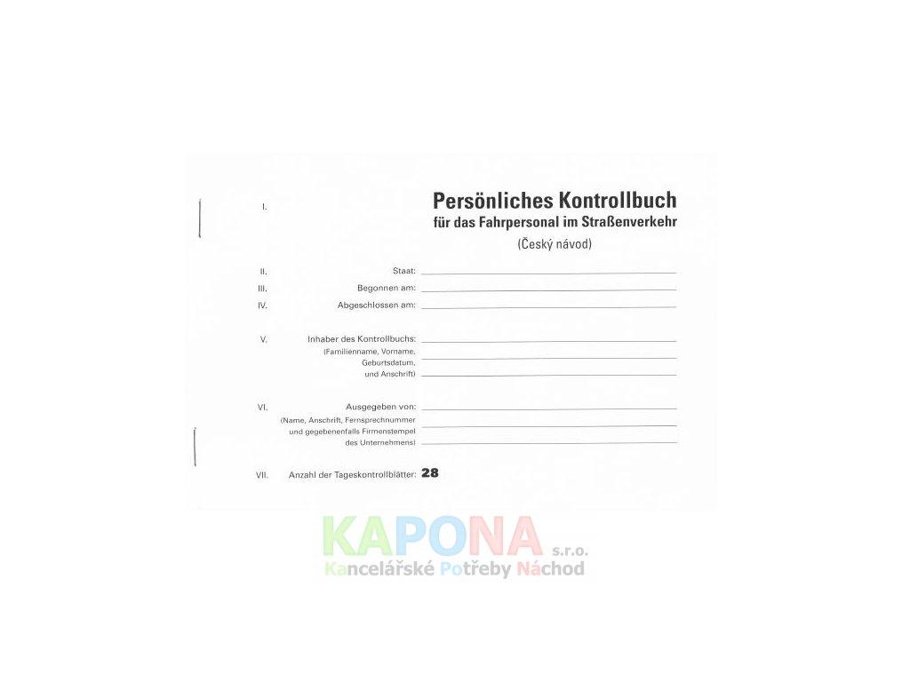 Kontrollbuch A5 37 listů s českým návodem, MSK 333