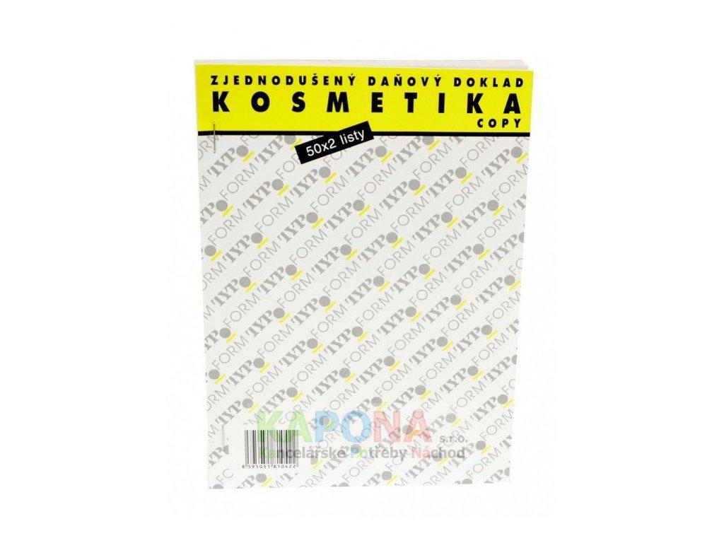 Pokladní blok kosmetika samopropisovací, MSK 378
