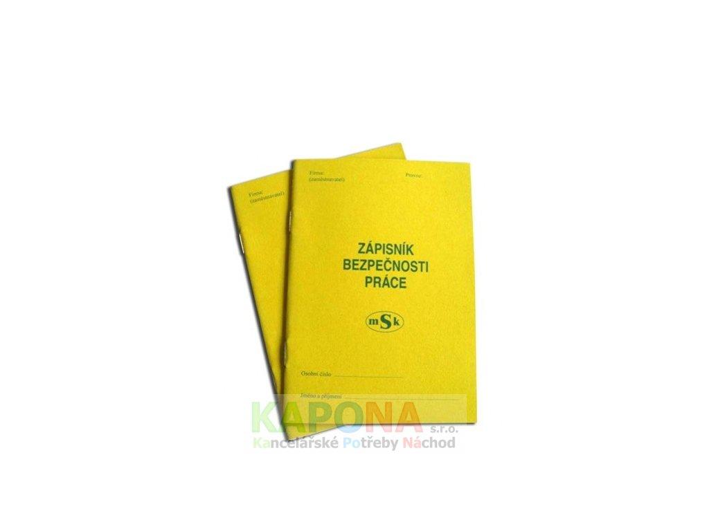Zápisník bezpečnosti práce, MSK 215