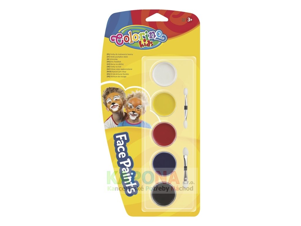 Barvy obličejové Colorino 5ks