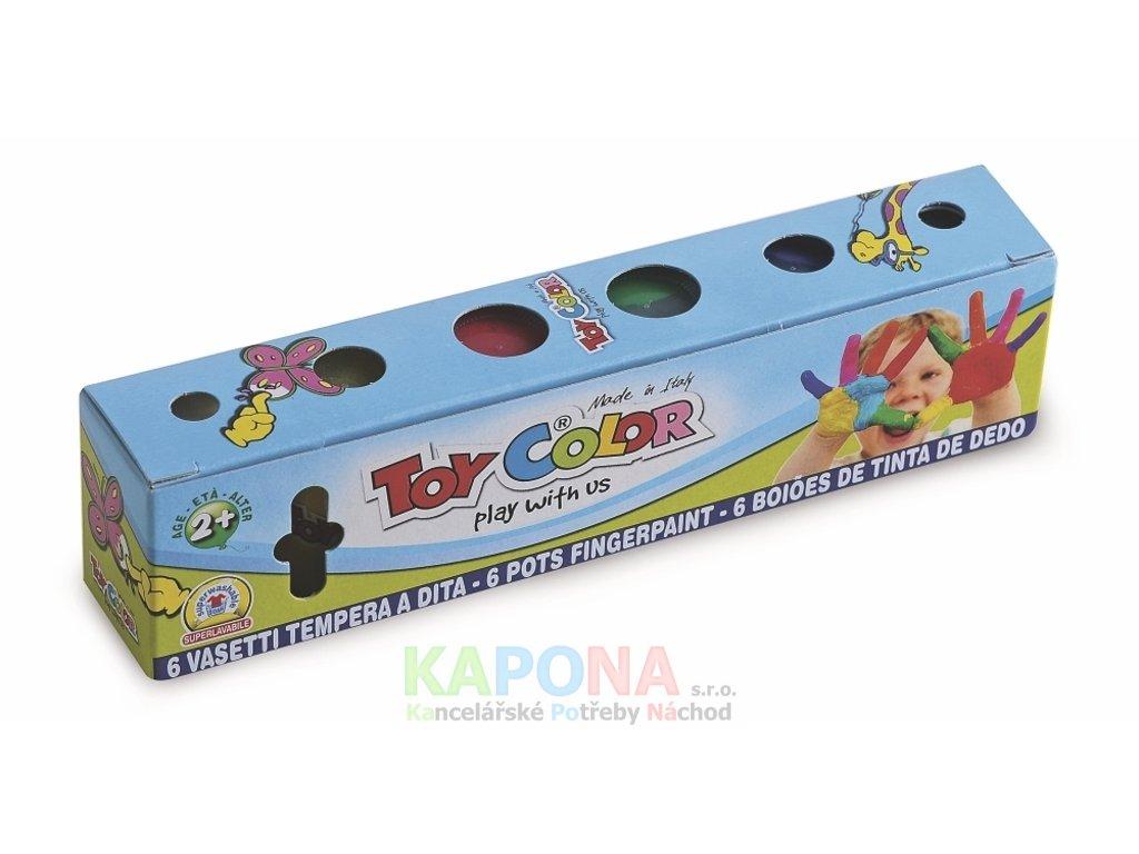 Prstové barvy Toy Color - 6 x 25ml