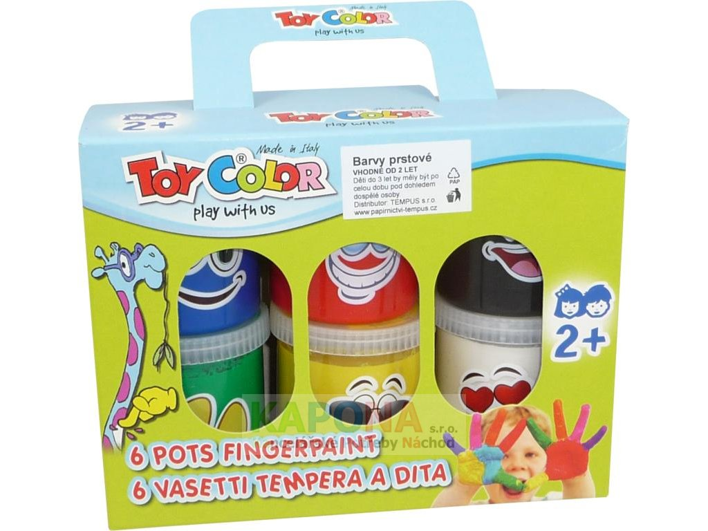 Prstové barvy Toy Color - 6 x 80ml
