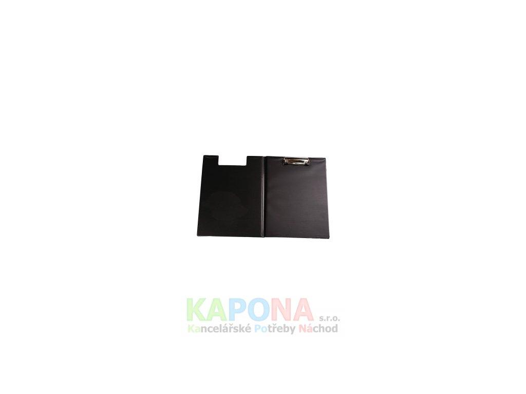 Desky A4 s klipem dvojdeska černá PVC