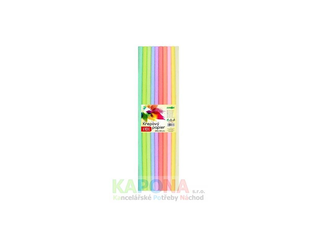 krepovy papir junior sada pastel 10 ks 50x200 cm