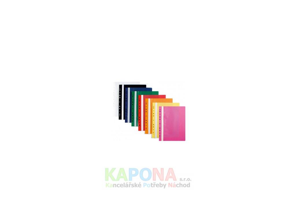 Rychlovazač A4 závěsný polypropylen s euroděrováním, různé barvy (Barva Šedá, Formát A4, V balení 10ks)