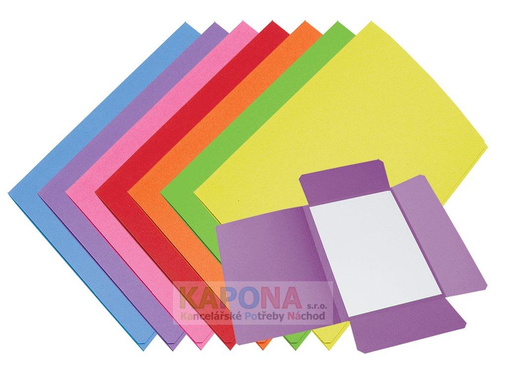 Mapa 253 A4 karton, různé barvy