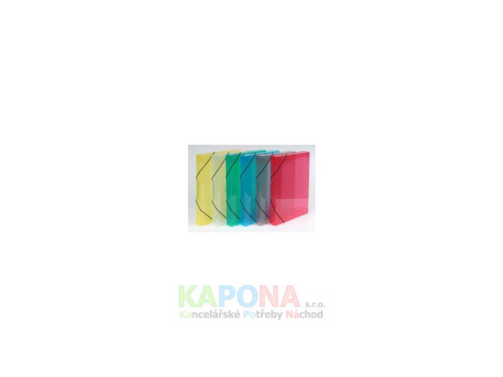 Mapa 253 A4 polypropylen box s gumou, různé barvy (Barva Žlutá, Formát A4)