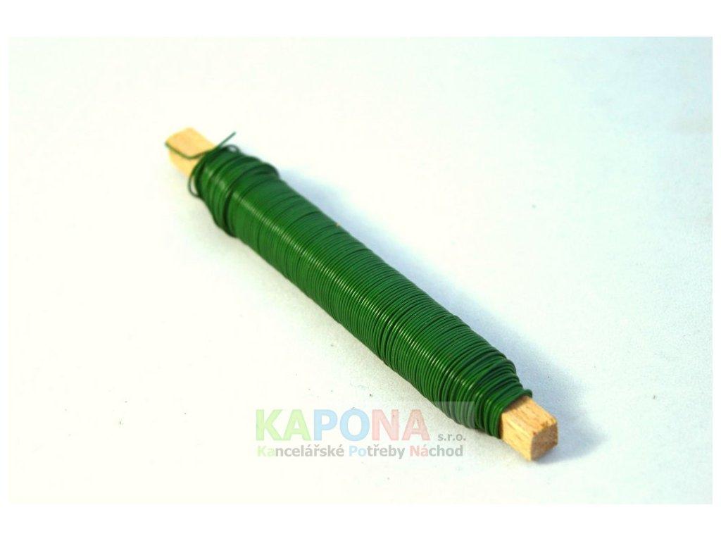Drát zelený na dřívku 100 g