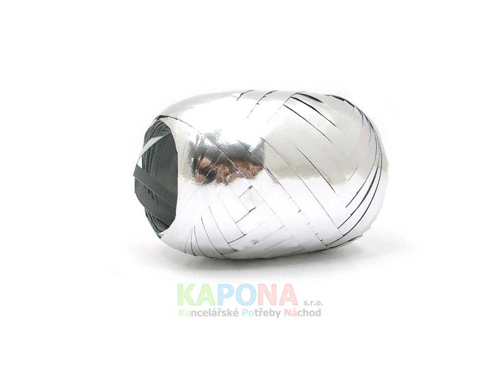 Stuha klubíčko 20m/5mm stříbrná