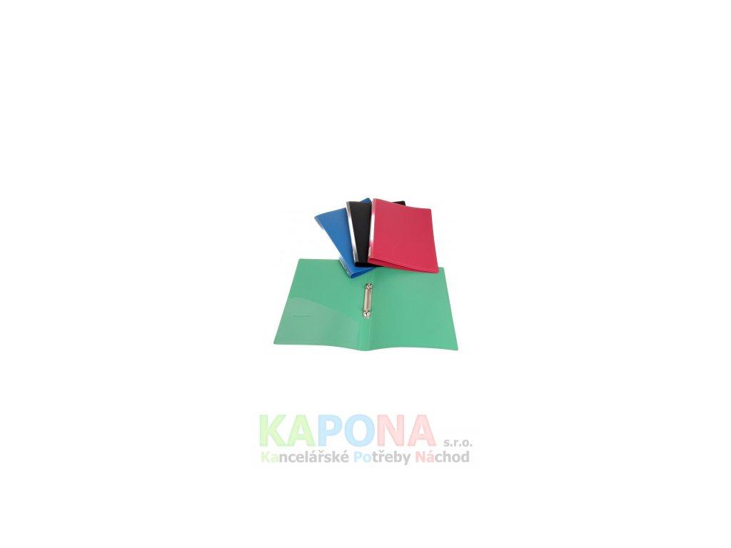 725 poradac 2 krouzkovy pp a4 2cm nepruhledny mix barev