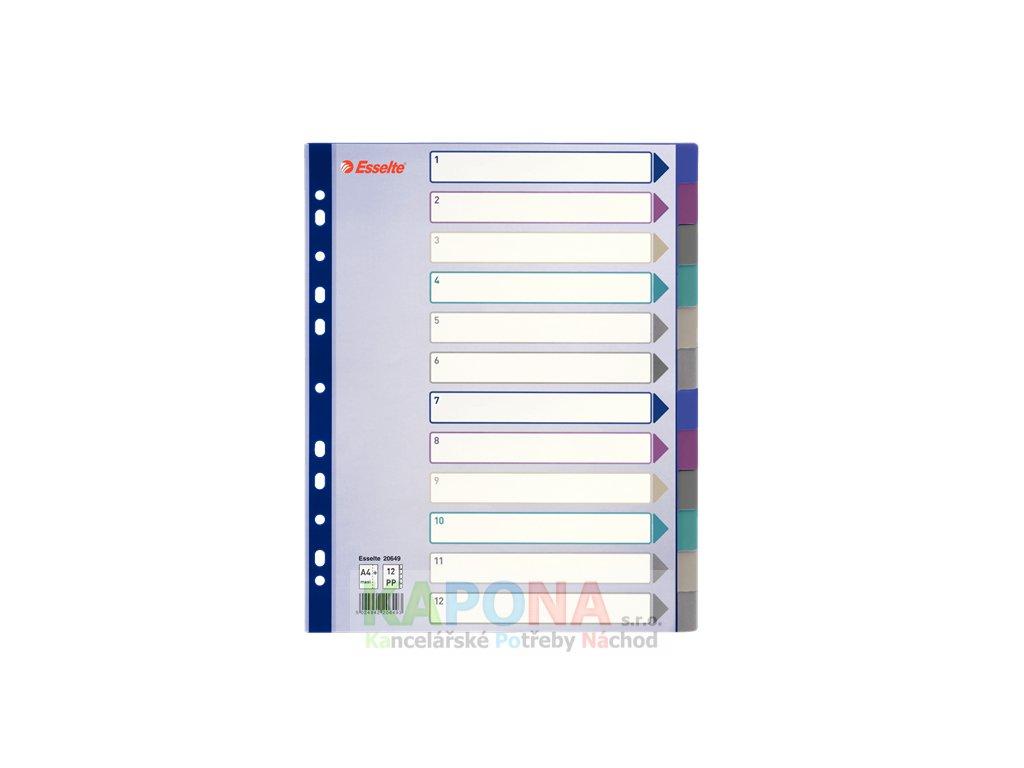 Rozřaďovač A4 PP Maxi barevný průhledný