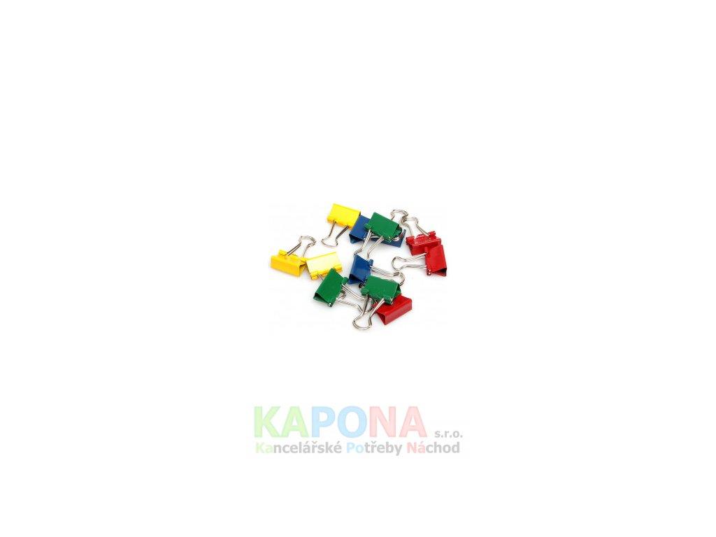 Klip Binder barevný (Popis 25mm, V balení 12ks)