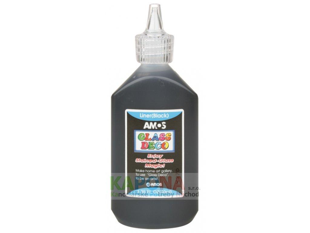 Kontura k barvám na sklo 40ml černá