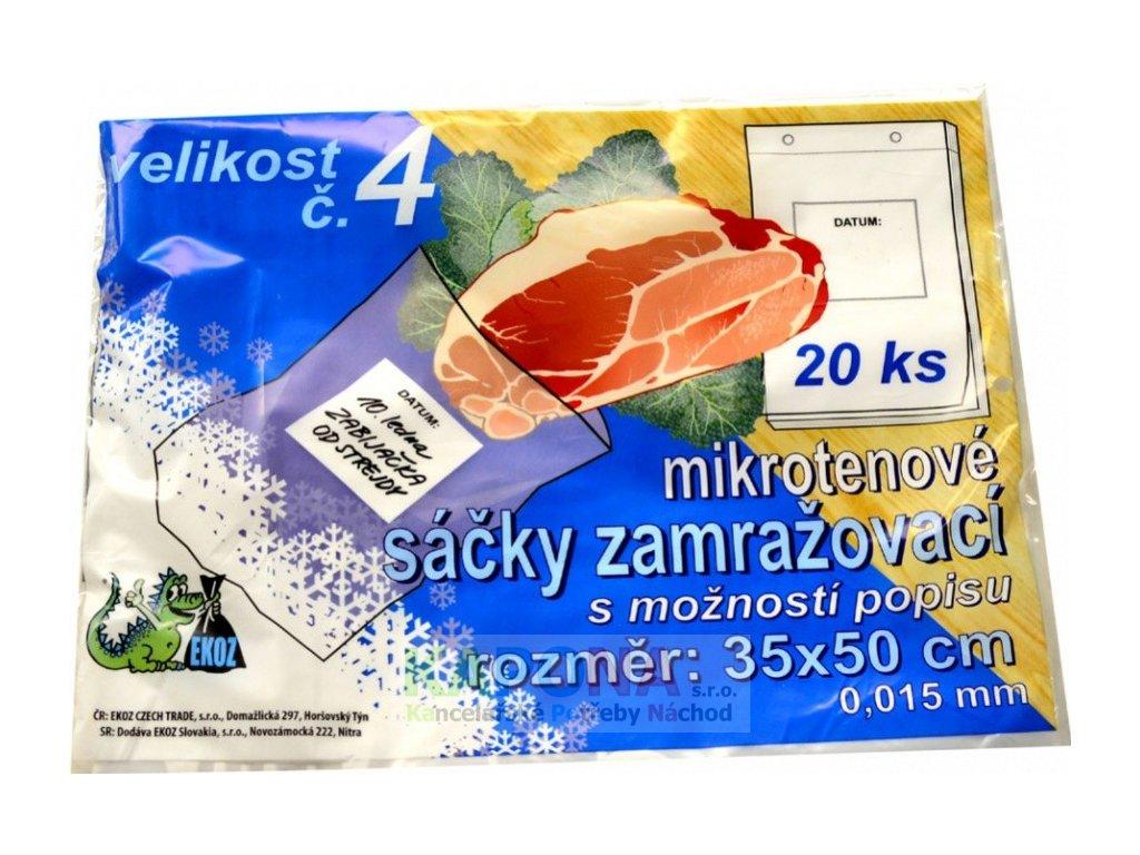 Sáčky zamrazovací mikroténové č.4 35 x 50 cm