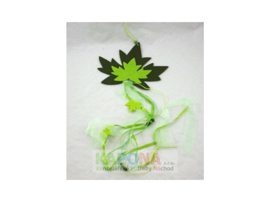 Závěs filc list 20x70x17cm mix barev