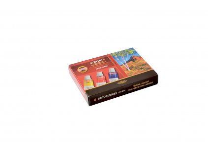 Akrylové barvy 6ks, 162701/6 Koh-I-Noor