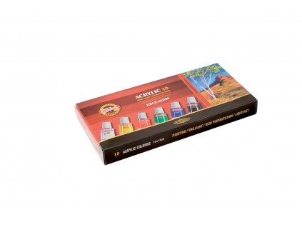 Akrylové barvy 10ks, 162703/10 Koh-I-Noor