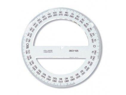 Úhloměry Koh-I-Noor 360° (Popis 125mm/transparentní)