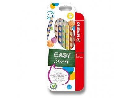 Pastelky trojhranné Stabilo EasyColors pro leváky, 6 barev, 331/6