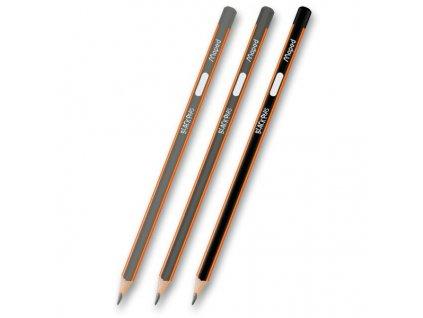 Tužka grafitová trojhranná Maped Black'Peps, různé tvrdosti (Popis č.4, Tvrdost 2H, V balení 12ks)