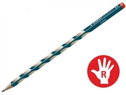 Tužka trojhranná silná Stabilo s výřezy pro praváky (Popis Zelená)