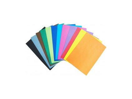 Barevný papír A4, 80g, 60 listů, mix 12x5 listů