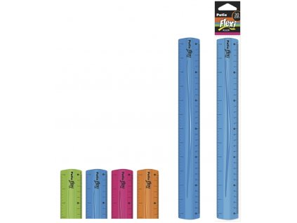 Pravítko 30 cm flexi (ohebné) mix barev