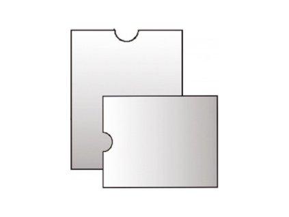 Pouzdro na doklady PVC, různé velikosti (V balení 20ks, Velikost H 90x115mm)
